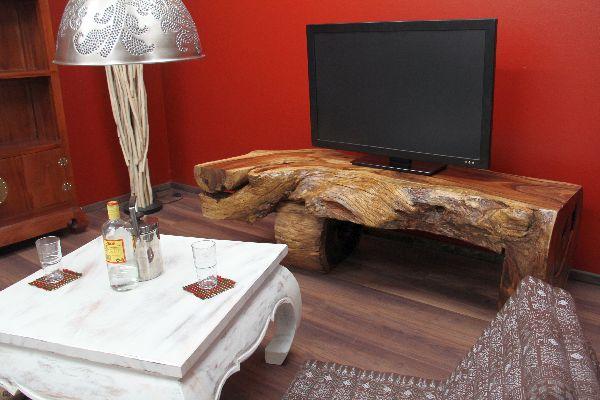 Orientalische Sitzecke Einrichten : Sideboard, suar, suarholz, wurzel, holz, massiv, tv, natur, 156x75x51
