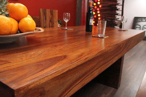 Esstisch Möbel Block ~ Esstisch, Sheesham, Holz, Massiv, Honigfarben, Tisch, Block, 200x95x78