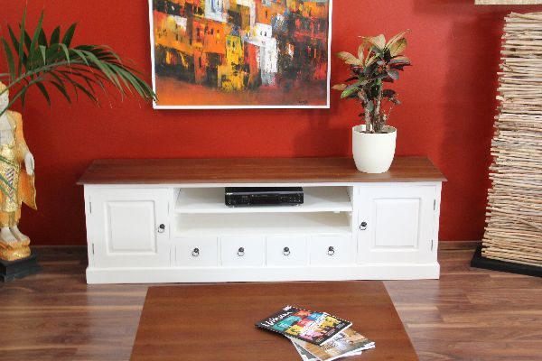 sideboard tv hifi unterschrank 200cm lowboard holz massiv. Black Bedroom Furniture Sets. Home Design Ideas