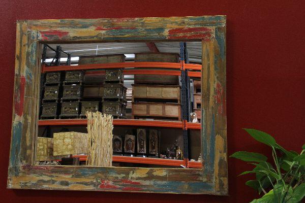 wandspiegel spiegel designer massiv holz teak glas. Black Bedroom Furniture Sets. Home Design Ideas