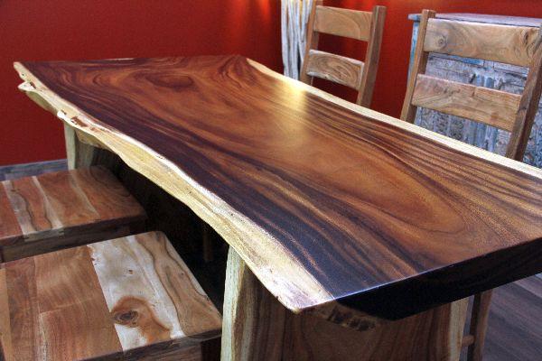 Schreibtisch holz natur  Esstisch, Suar, Holz, Küchentisch, Schreibtisch, Natur, 200x98x79