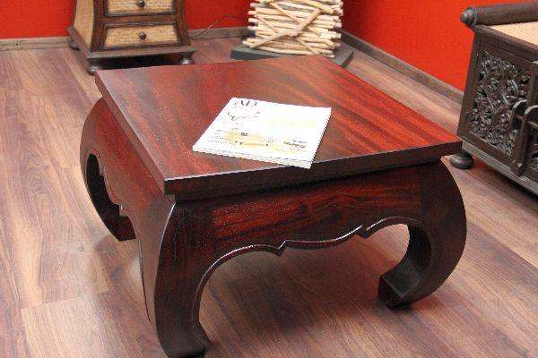 opiumtisch quadratisch couchtisch holz massiv mahagoni 67x67x41. Black Bedroom Furniture Sets. Home Design Ideas