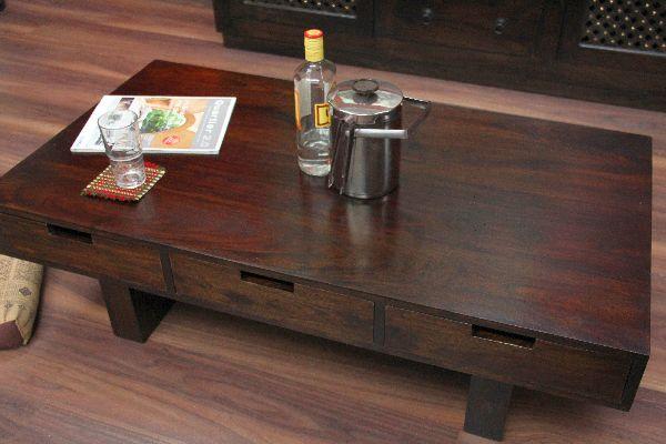 couchtisch 6 schubladen walnuss 110x60x35 holz massiv wohnzimmertisch sheesham ebay. Black Bedroom Furniture Sets. Home Design Ideas