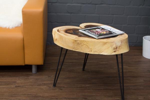 beistelltisch massivholz baumscheibe baumstamm suar 63x52. Black Bedroom Furniture Sets. Home Design Ideas
