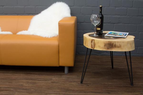 beistelltisch massivholz baumscheibe baumstamm suar 63x53. Black Bedroom Furniture Sets. Home Design Ideas