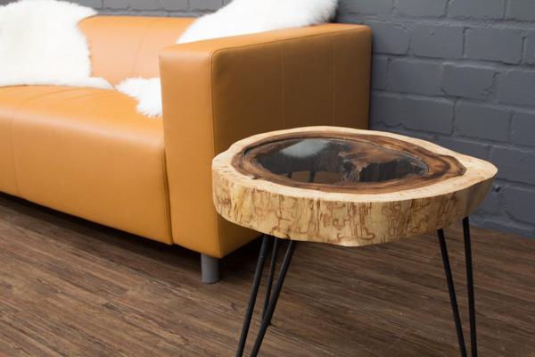 Massivholz esstisch baumscheibe great couchtisch - Tisch baumscheibe ...