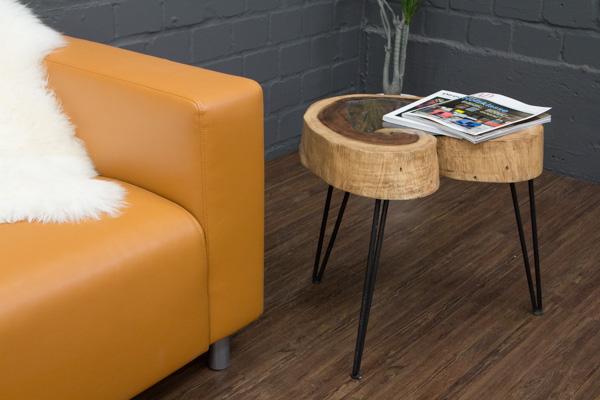 beistelltisch baumscheibe massivholz baumstamm suar 55x45. Black Bedroom Furniture Sets. Home Design Ideas