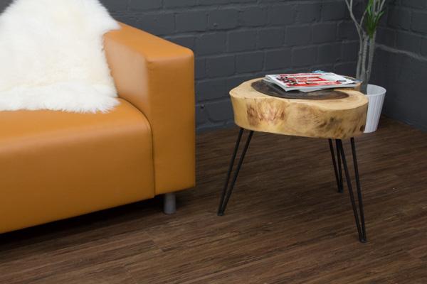 beistelltisch massivholz baumstamm baumscheibe suar 57x50. Black Bedroom Furniture Sets. Home Design Ideas