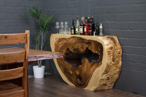 luxus baumscheiben sideboard aus suar massivholz. Black Bedroom Furniture Sets. Home Design Ideas