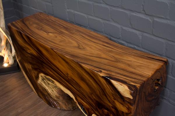 sideboard wurzel baumstamm 153cm baumscheibe suar massivholz natur konsole gro ebay. Black Bedroom Furniture Sets. Home Design Ideas